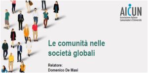 De Masi LE comunità nelle società globali AICUN 2018